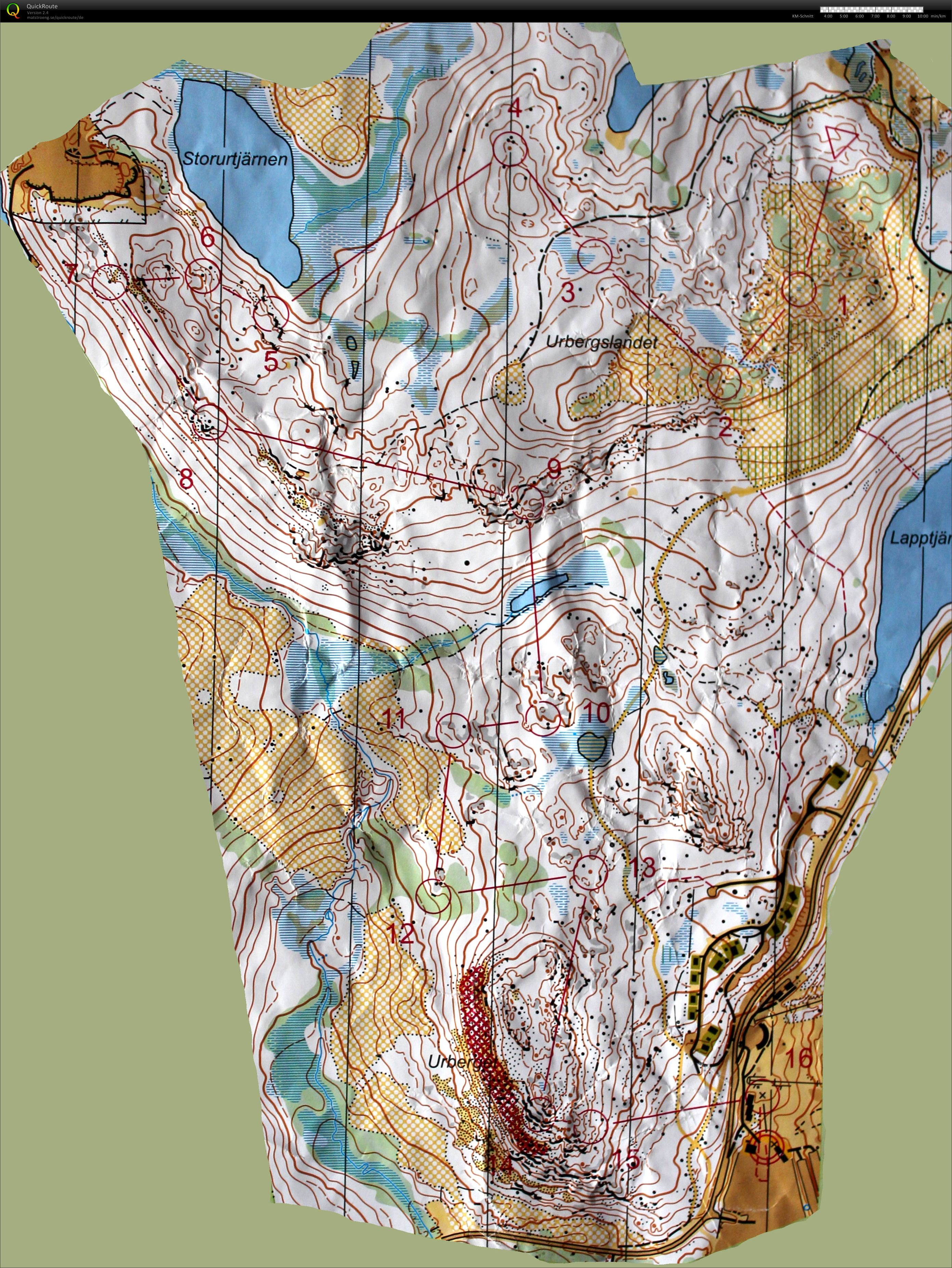 Kartan för etapp 4, medeldistans.